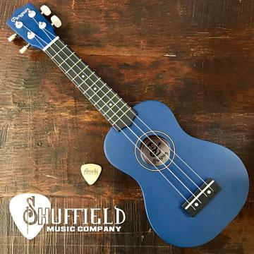 Custom Amahi Penguin Dark Blue Soprano Ukulele w/ Amahi Leather Pick