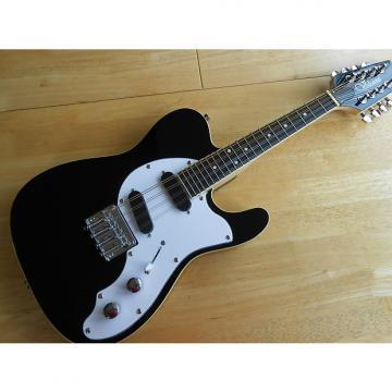 Custom Stunning Black Classic Twin Pick Up Mandocaster Electric Mandolin Brand New