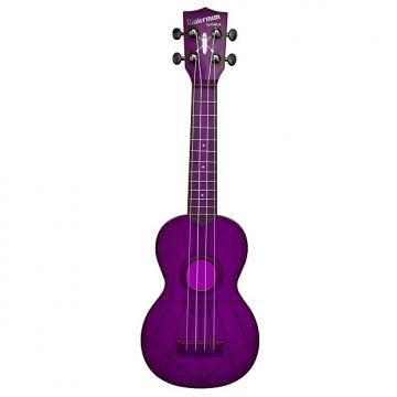 Custom Kala KA-SWF-PL Waterman Soprano Ukulele - Fluorescent Purple Gloss