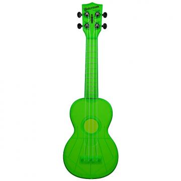 Custom Kala KA-SWF-GN Waterman Soprano Ukulele - Fluorescent Green Gloss