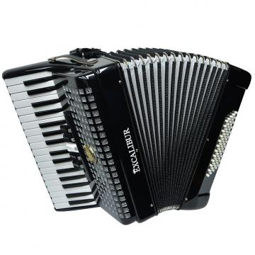 Custom Excalibur Super Classic 60 Bass Piano Accordion - Black