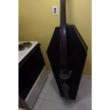 Custom HomeBrew HomeMade Upright  Coffin Bass 'One of a Kind' with Pickup