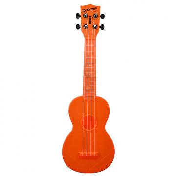 Custom Kala KA-SWF-OR Waterman Soprano Ukulele - Fluorescent Orange Gloss