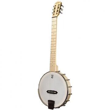 Custom New Deering Goodtime Solana 6 Nylon 6-String Acoustic Electric Banjo with Free Shipping