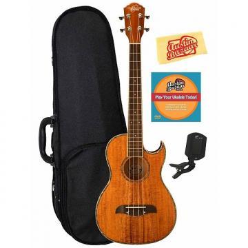Custom Oscar Schmidt OU55CE Koa Cutaway Acoustic-Electric Baritone Ukulele w/ Hard Case