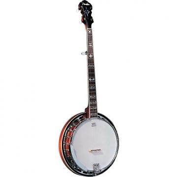 Custom Fender FB-55 Banjo, Mahogany Resonator, Chromed Brass Tone Ring - Natural