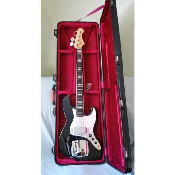 Custom Custom Built- Fender Style 4 String Jazz Bass Guitar- Beautiful Deep Gloss Black-Built