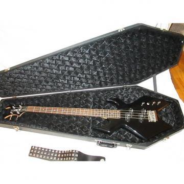 Custom BC RICH Platinum Warlock Bass 2002 Black w/ Coffin HSC