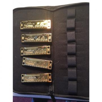 Custom Lee Oskar 25th Anniversary Edition-Set of 5 with carrying case 2008 Gold