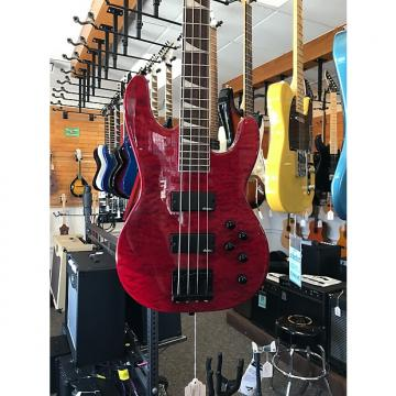Custom Jackson JS3QM Trans Red 4 String Bass