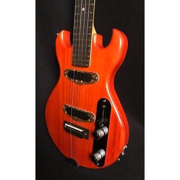Custom HH Mini Electric Banjo, 2017, Double-Cutaway Body, Trans-Orange, Nice Gig Bag Included!