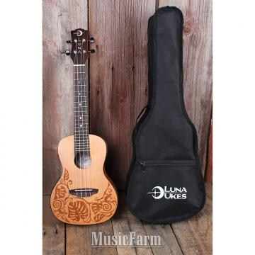 Custom Luna UKE MO CDR Concert Solid Cedar Top Acoustic Electric Ukelele with Gig Bag