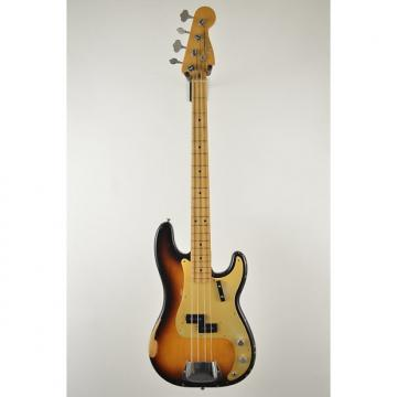 Custom Fender Road Worn '50s Precision Bass 2009 Sunburst maple neck P-bass with hard case
