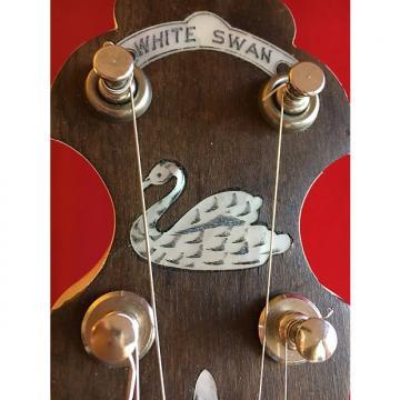 "Custom Vintage Lange ""White Swan"" 17 Fret tenor Banjo, 1920s, VGC w/hsc"
