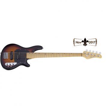 Custom NEW! Schecter CV-5 bass guitar in 3 tone sunburst finish