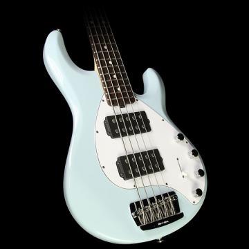 Custom Ernie Ball Music Man Stingray 5-String Electric Bass Guitar Powder Blue