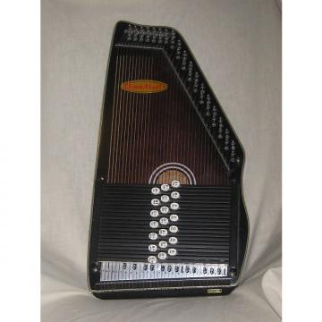 Custom Chromaharp Autoharp 21 Chord early 2000's Gloss Walnut
