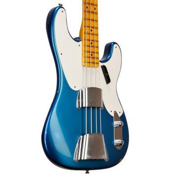 Custom Fender Custom Shop Ltd. 1955 Relic P in Aged Lake Placid Blue - 8.0 pounds - CZ523990 2017 Ag