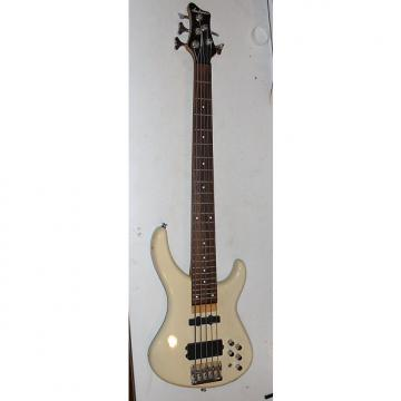 Custom Jackson C5A 5 String Bass White