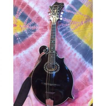 Custom Eastman MD814-V F-Style Oval Hole Mandolin 2017 Black Oil Varnish