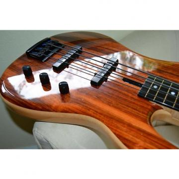 Custom WARMOTH Custom Fretless Bass Koa Laminate Top