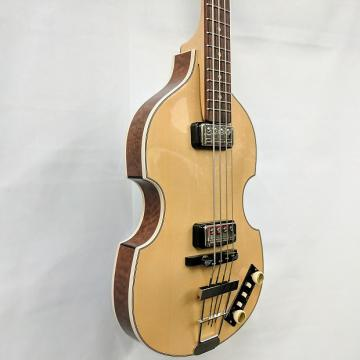 Custom Hofner 500/1 Gold Label 2017 Beatle Bass Spruce Top Madrone Burl Sides & Back w/ Case - B-Stock
