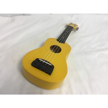 Custom New Kohala Tiki Soprano Uke Yellow