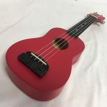 Custom New Kohala Tiki Soprano W/Tuner Red