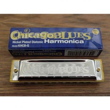 Custom Chicago Blues KHCB-G Nickel Plated Diatonic Harmonica in Key of G *