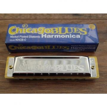 Custom Chicago Blues KHCB-C Nickel Plated Diatonic Harmonica in Key of C *