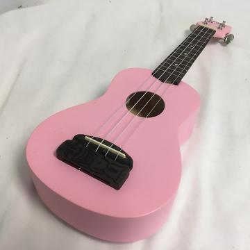Custom New Kohala Tiki Concert W/Tuner Pink
