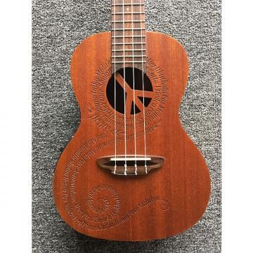 Custom Luna Ukulele Peace Electric
