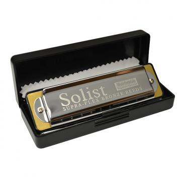 Custom Excalibur Weltbesten Solist Supra-Flex Bronze Reed Harmonica - Key of Low F