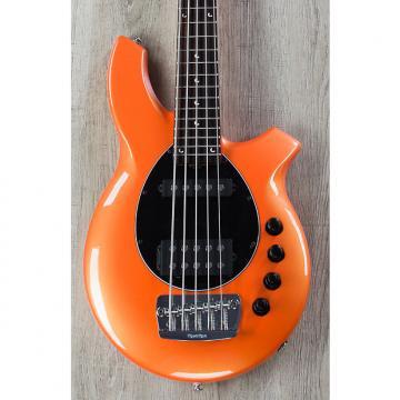 Custom Ernie Ball Music Man Bongo 5 HS 5-String Bass, Tangerine Pearl, Rosewood Board
