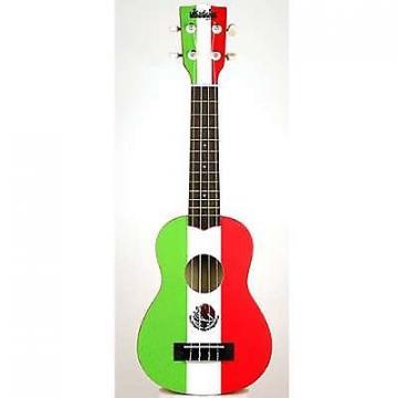 Custom Kala Ukadelic Mexican Flag Soprano Ukulele