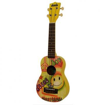 Custom Brand new Kala Ukadelic Peace & Love soprano ukulele