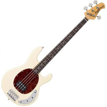 Custom Sterling by Music Man Ray34CA Classic Active Electric Bass Vintage Cream Finish with Gig Bag