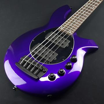 Custom Music Man Bongo 5 HH 5 String Bass Firemist Purple With Case
