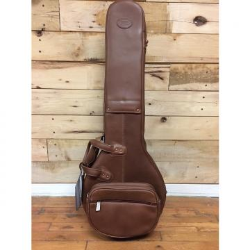 Custom Reunion Blues Bango Gig Bag Chestnut Brown Leather