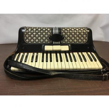 Custom Italian Vintage Accordion 1940s - 1950s Black