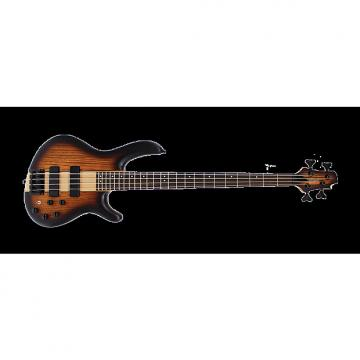 Custom Cort Artisan C4 Plus Bass Guitar - Zebra Wood Tobacco Burst
