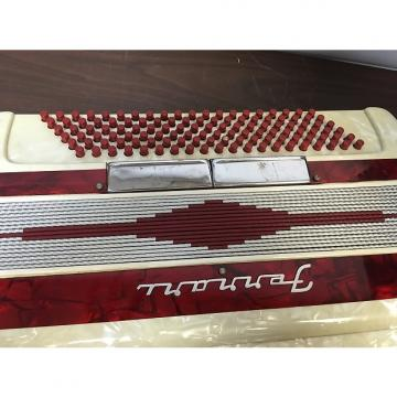 Custom Ferrari  Accordion 1940's - 1950's White/Red