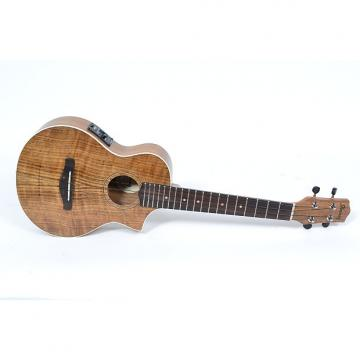 Custom Ibanez UEW14E Open Pore Natural Acoustic Electric Ukulele