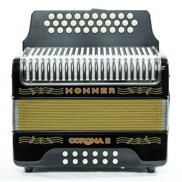 Custom Hohner Corona II GCF Accordion Black