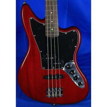 Custom Squier Vintage Modified Jaguar Special Electric Bass Guitar 2016 Candy Apple Red
