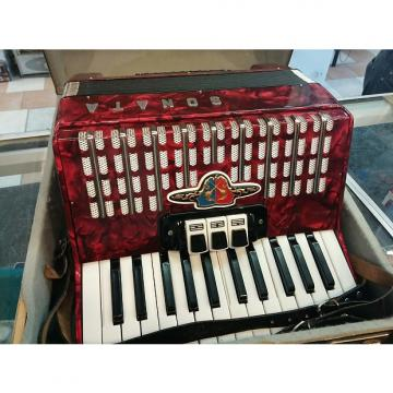 Custom Sonata Accordion 1986 Ruby Red