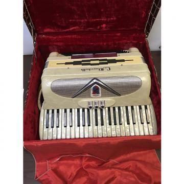 Custom Marchetti Accordion 1950s-1960s White/Pearl