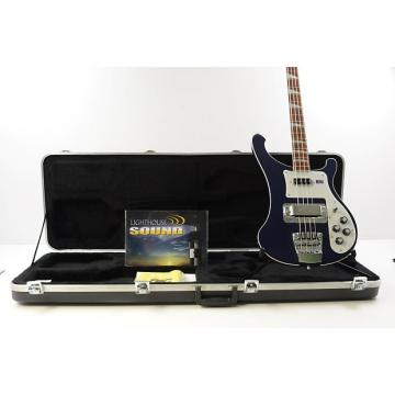 Custom 2008 Rickenbacker Model 4003 Stereo Bass Guitar - Blue w/ OHSC
