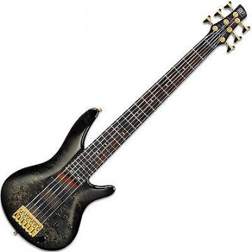 Custom Ibanez SR806 SR 6-String Bass Guitar Bartolini Trans Gray Burst Finish