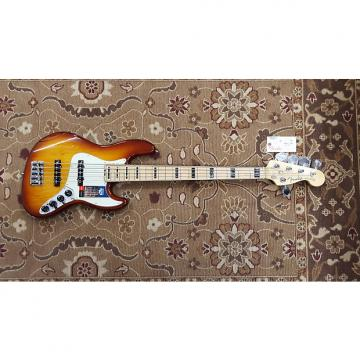 Custom 2016 Fender American Elite Jazz Bass V Ash MN in Tobacco Burst with Case and Professional Setup!